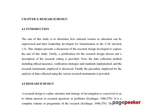 CHAPTER 4 RESEARCH DESIGN UnisaIR Home