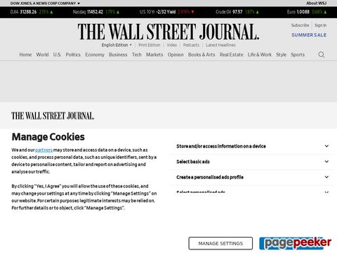 Captura de Pantalla de The Wall Street Journal