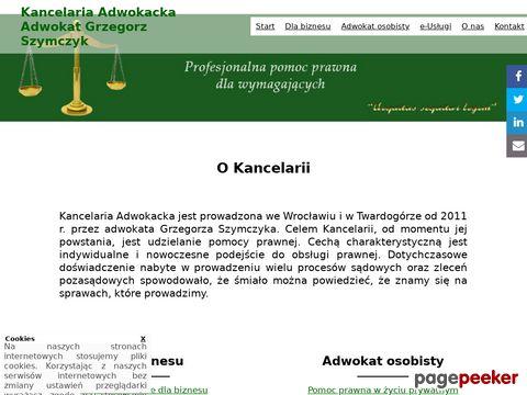 Kancelaria Adwokacka Adwokat Grzegorz Szymczyk