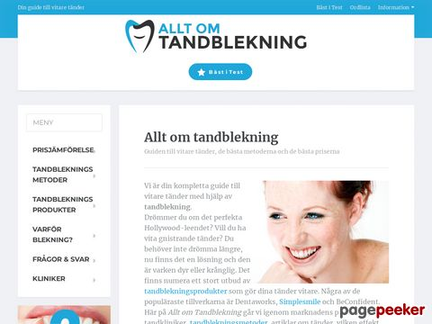 Allt om Tandblekning