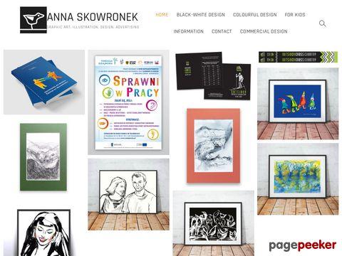 Anna Skowronek, grafika, malarstwo, plakat, ilustracja