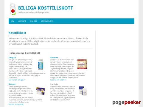 Billiga Kosttillskott - Hälsosamma Kosttillskott på Nätet