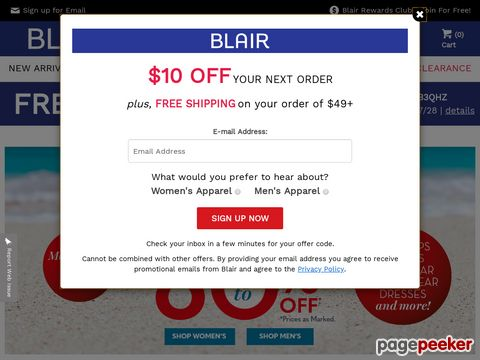 BLAIR Coupons and Promo codes