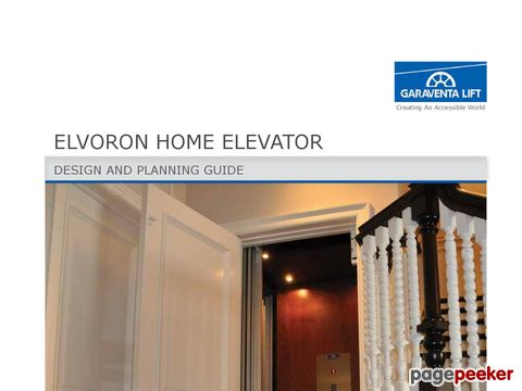 Elvoron HR Home Elevator Design and Planning Guide
