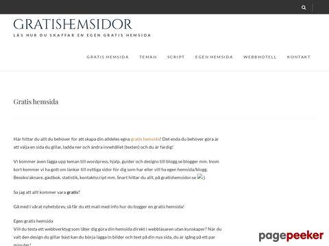Gratis hemsida - Gör en gratis hemsida