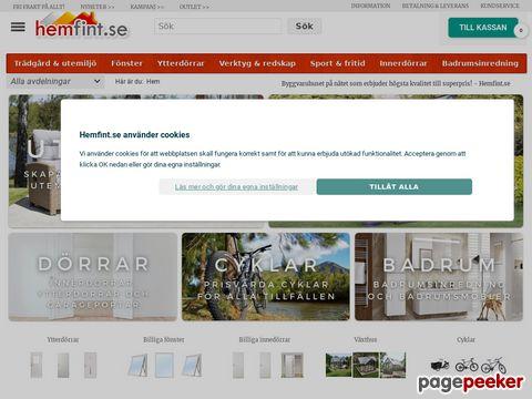 Billiga dörrar,  fönster och badrumsprodukter online - Hemfint.s
