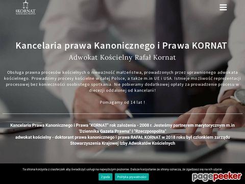 """RAFAŁ KORNAT - KANCELARIA PRAWA KANONICZNEGO I PRAWA """"KORNAT"""""""