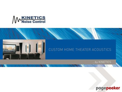 by KINETICS CUSTOM HOME THEATER ACOUSTICS
