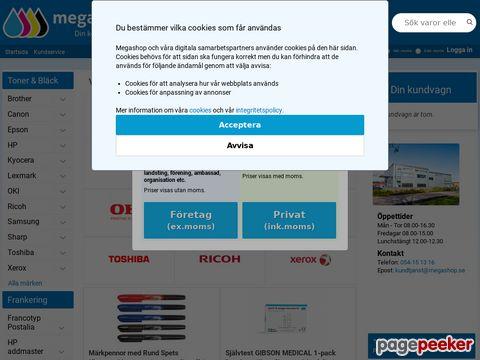 Megashop.se - Bläckpatroner,  toners och kontorsmaterial