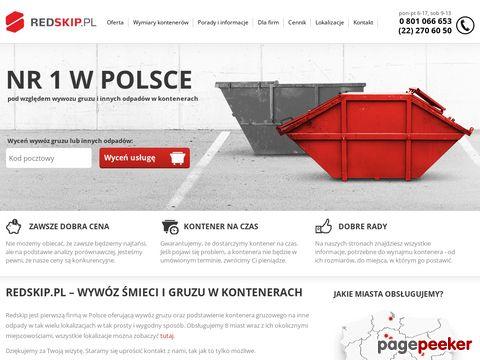 Redskip.pl - wywóz śmieci, wywóz odpadów, wywóz gruzu