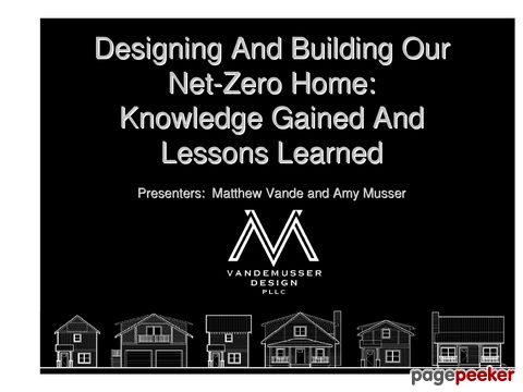 Designing And Building Our Net Zero Home Knowledge