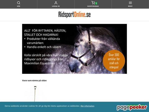 Ridsport Online - Ridsportbutik med ridkläder,  hästutrustning,