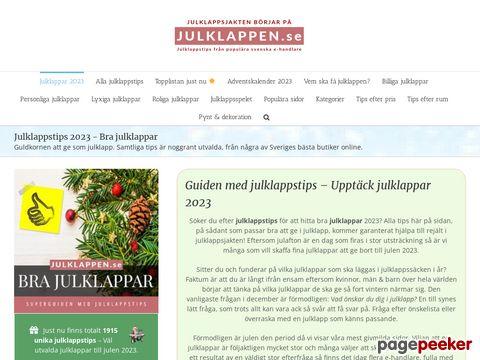 Julklappstips - Handla julklappar på nätet.