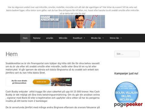 Mikrolån,  smslån,  mobillån - Snabbkrediter.se - Snabbkrediter