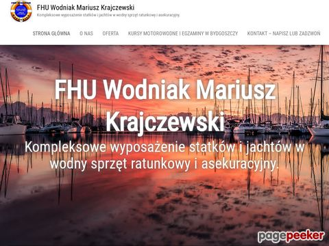 """FIRMA HANDLOWO-USŁUGOWA """"WODNIAK"""" - MARIUSZ KRAJCZEWSKI"""