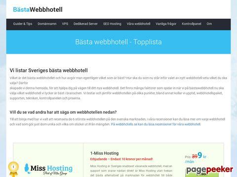 Bästa webbhotell - topplista på webbhotell